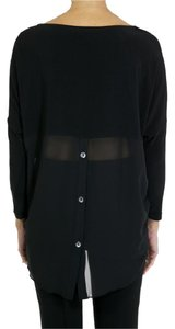 Joseph Ribkoff Draped Chiffon Oversized Top black