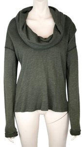 James Perse Cowl Neck Long Sleeve T Shirt OLIVE GREEN