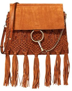 Chloé Breided Faye Suede Chloe Faye Medium Chloe Faye Breided Shoulder Bag