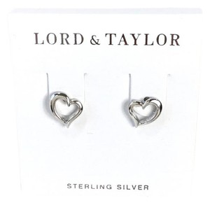 Lord & Taylor Sterling Silver Open Heart Stud Earrings