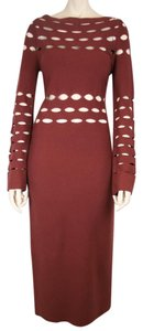 La Perla Knit Cutout Sweater Long Sleeve Dress