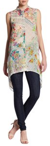 Johnny Was Eclectic Boho Festival Floral Tunic