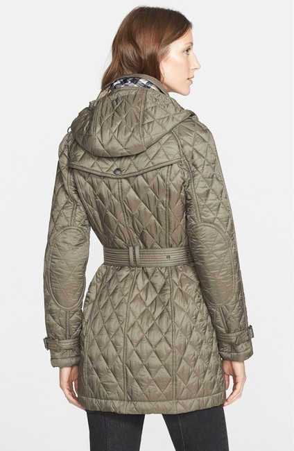 Mink Grey Finsbridge Belted Quilted