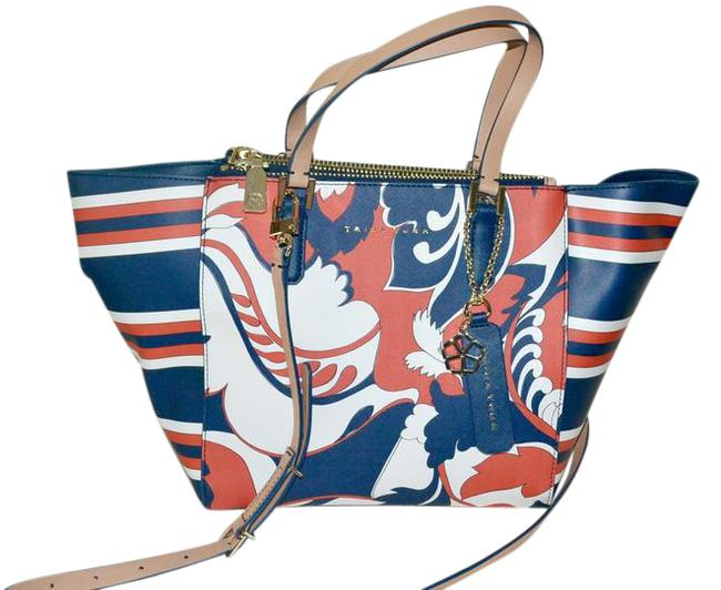 "Item - East West Bag L L.a. Fabulous ""Paradise"" Med Deep Sea Multicolor Coated Canvas Leather Tote"