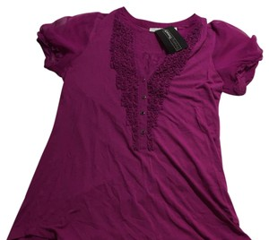 New York & Company Top Purple: fuchsia