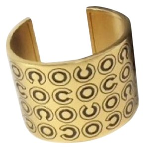 Chanel Gold Plated Coco Letter Cuff Bangle