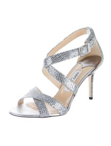 Jimmy Choo Louise Silver Sandals