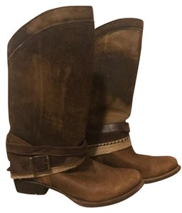 Corral Boots Leather Distressed LD Brown Vintage Boots