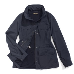 Loro Piana Water-proof Cashmere Crease-proof Travel Wind-resistant Black Jacket