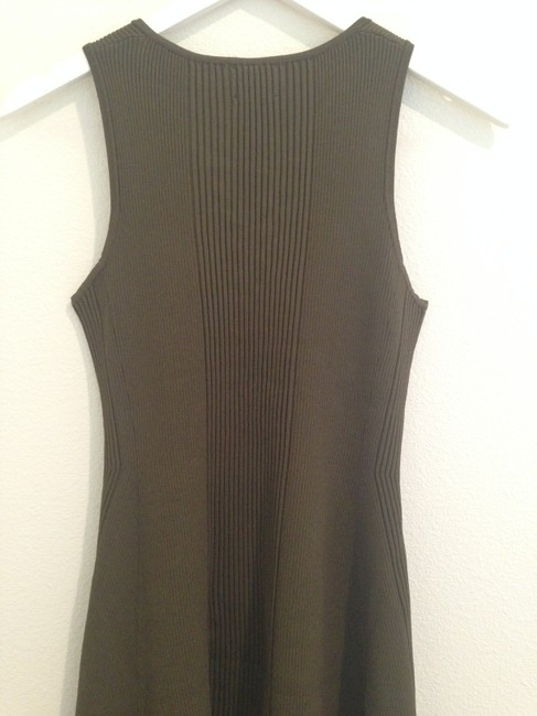 Torn by Ronny Kobo Army Green Sleeveless Mid-length Short Casual Dress Size 8 (M) Torn by Ronny Kobo Army Green Sleeveless Mid-length Short Casual Dress Size 8 (M) Image 4