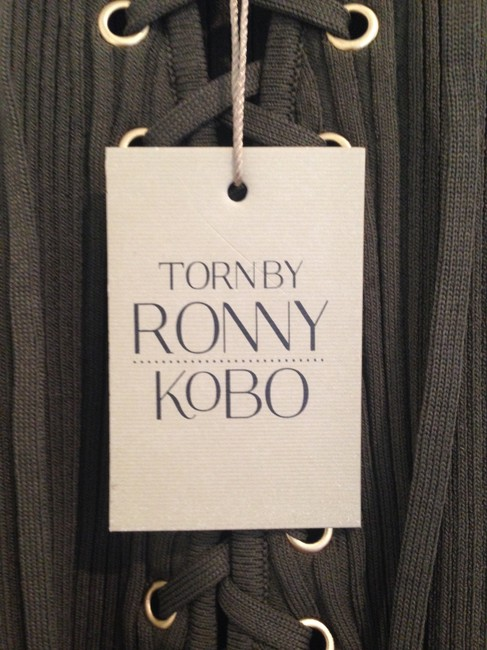 Torn by Ronny Kobo Army Green Sleeveless Mid-length Short Casual Dress Size 8 (M) Torn by Ronny Kobo Army Green Sleeveless Mid-length Short Casual Dress Size 8 (M) Image 5