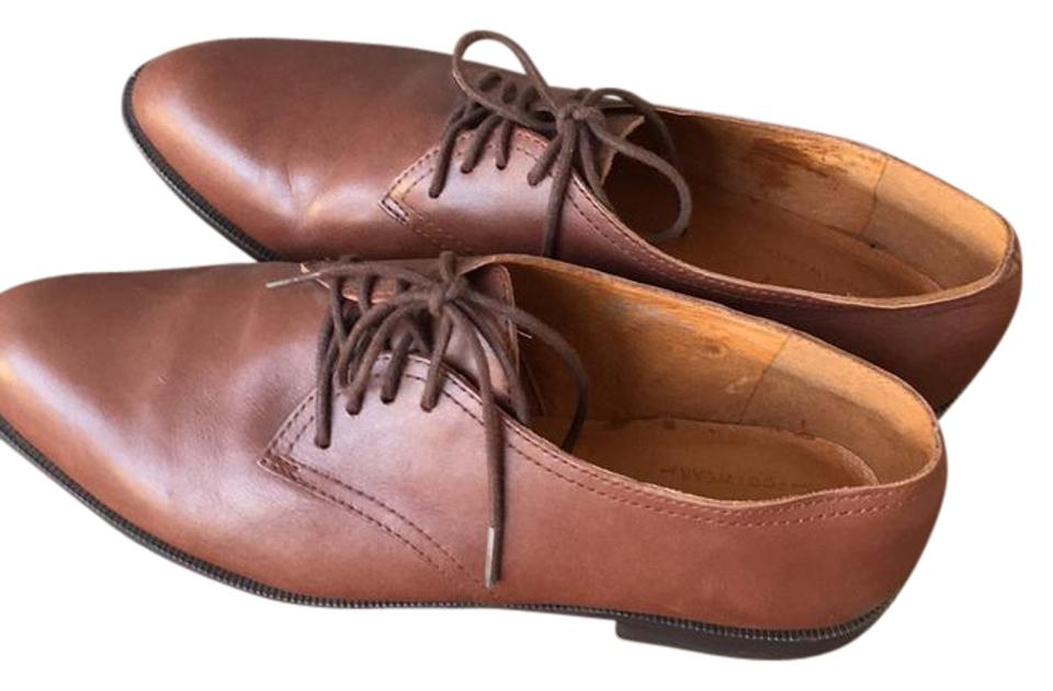 woman Leather Madewell Brown Leather woman Oxfords Flats New product 4d398b