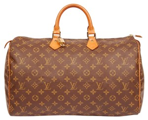 Louis Vuitton Monogram Speedy 40 Speedy Vintage Satchel in Brown