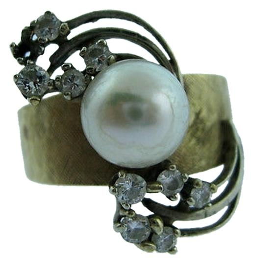 Preload https://item4.tradesy.com/images/14k-yellow-gold-white-pearl-diamond-ladies-ring-size-825-2076198-0-0.jpg?width=440&height=440