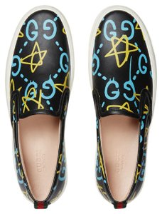Gucci Ghost Neon Star Slip On Black Neon Athletic