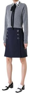 Michael Kors Collection Mini Skirt Navy Blue