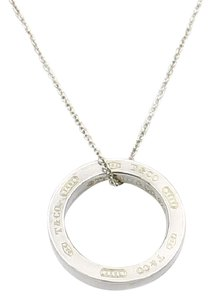 Tiffany & Co. Tiffany & Co. 1837 Circle Pendant Necklace in Sterling Silver 16