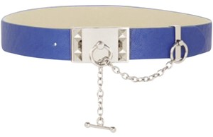 BCBGMAXAZRIA cobalt blue belt silver chain size Medium