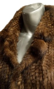 Knitted Mink 4 Closure Pom Pom Ball New Never Worn Fur Coat