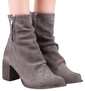 Jeffrey Campbell Grey Double Zip Suede Boots grey Boots