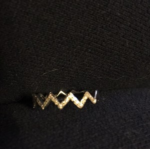 EF Collection Diamond Zig Zag Stack ring