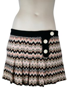 Missoni Zigzag Mini Pleated Mini Skirt PINK IVORY BROWN