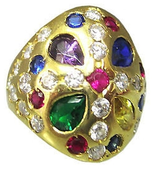 Preload https://item4.tradesy.com/images/fine-estate-18k-yellow-gold-10g-colored-stones-ladies-ring-size-775-2076248-0-0.jpg?width=440&height=440