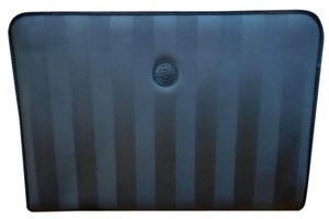 Fendi Laptop Case Portfolio Stripe Black Clutch