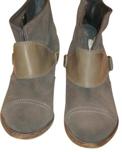 AllSaints Made In Portugal Suede Soles Are Handmade Leather Gray Boots