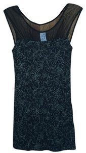 Free People short dress black with gold design on Tradesy