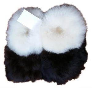 Agroinca PPX Alpaca Fur Slippers Made In Peru White and Dark Brown Flats