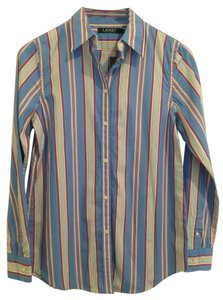 Ralph Lauren Button Down Shirt Blue Red Yellow