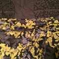 H&M Gray Yellow Black Floral Tulip Hem Skirt Image 2