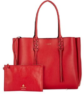 Lanvin Tassel Tote in red