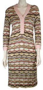 Missoni short dress PINK BROWN IVORY BEIGE BLACK Knit Long Sleeve on Tradesy