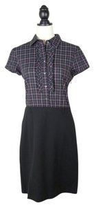 Theory Blouse Plaid Dress