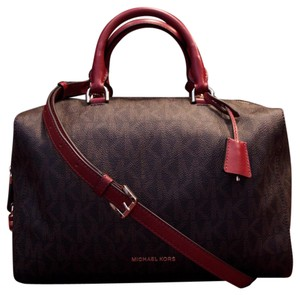 Michael Kors Satchel in Brown and Red