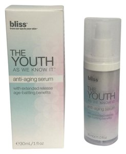 Bliss BLISS The Youth As We Know It Anti-Aging Serum 1 oz/30 ml BRAN NEW !!!