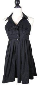 bebe Halter Lbd Mini Dress