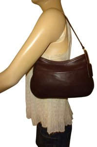Coach Genuine Leather Baguette Legacy Collection Slim Hobo Bag