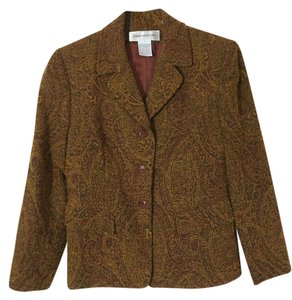 Jones New York Classic Jacket Brown and Gold Blazer