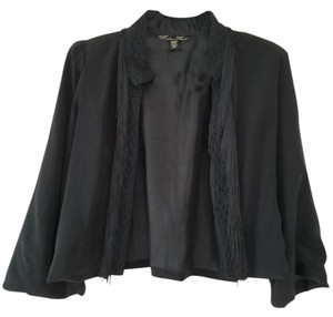 Winter Kate Fringe Silk Top Black