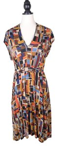 French Connection Fcuk Printed Belted Dress