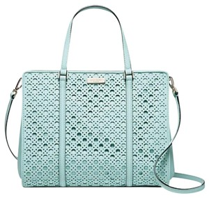 Kate Spade Strap Convertible Saffiano Leather Structured Mint Cross Body Bag