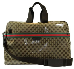 Gucci 374770 Travel Duffle Duffle Travel Brown Travel Bag
