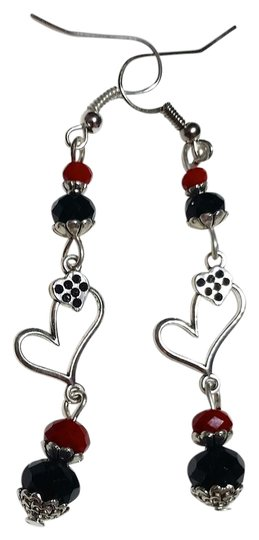 Preload https://img-static.tradesy.com/item/20763206/red-silver-black-handmade-heart-charm-and-a199-earrings-0-1-540-540.jpg