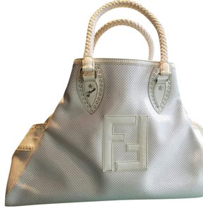 Fendi Tote in White and Cream