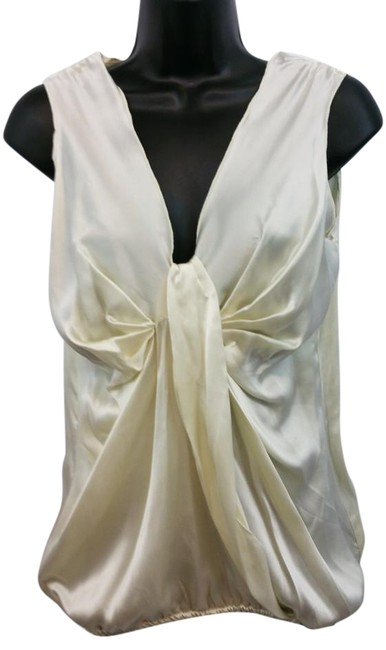 Gold Hawk Beige Silk Top Image 0