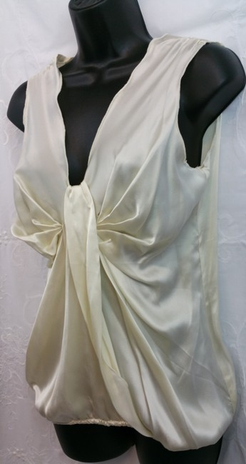 Gold Hawk Beige Silk Top Image 1
