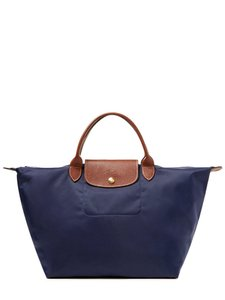 Longchamp Short Handle Medium Tote in Navy